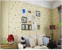 beibehang papel de parede Non-woven TV background wall wallpaper warm country butterfly flower children behang hudas beauty