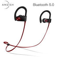 amzish Waterproof Bluetooth Earphones Wireless Headphones Stereo Headset HiFi Earbuds Sport Earphone For Xiaomi Samsung iPhone