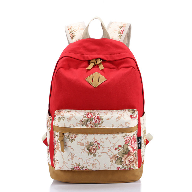 91967a3448ad New Korean style women classic backpack canvas printing backpack cute  school bags for teenagers girls mochila