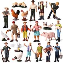 Сельскохозяйственный рабочий фермер фигурка ПВХ человек модель Фигурка декор украшения аксессуары современные игрушки для детей подарок для детей