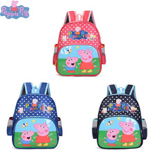 Peppa Pig Bag Childrens School Cute Cartoon Print Anime Figure Backpack Kindergarten Toys for Children 2P19