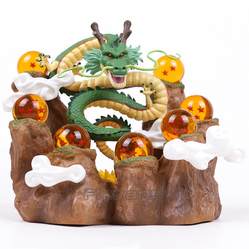 NEW HOT!!! Dragon Ball Z The Dragon Shenron + Mountain Stand + 7 Crystal Balls PVC Figures Collectible Model Toys chris wormell george and the dragon