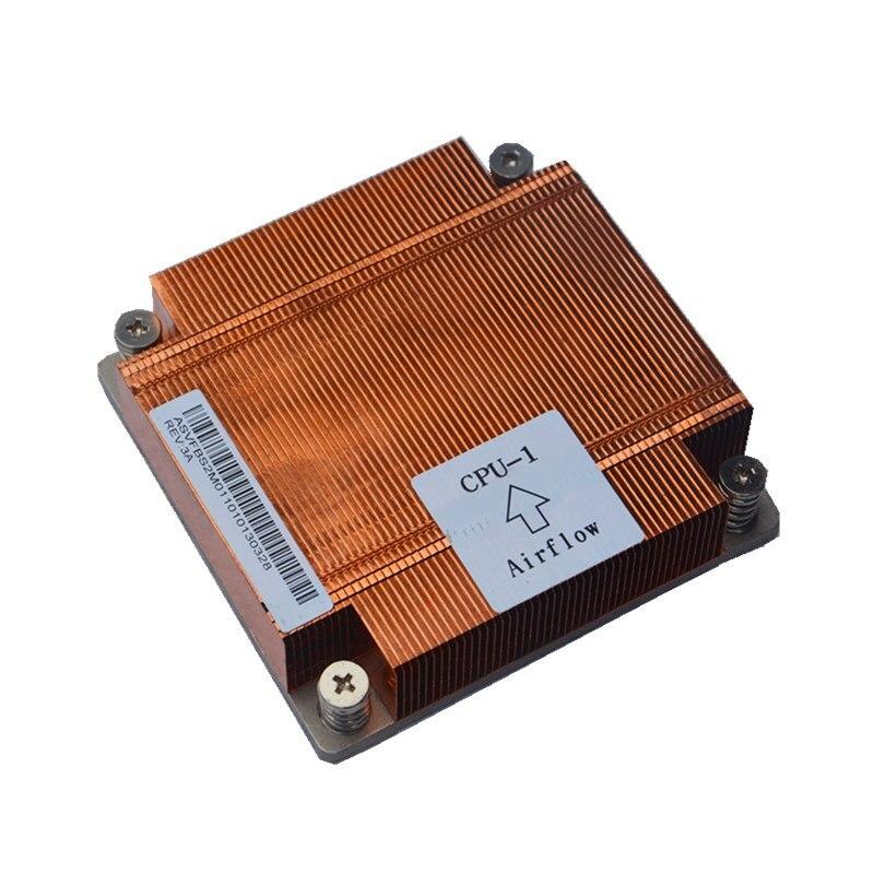 Server Processor heat sink 1U server Cooler pure copper X79 2011 pin square CPU cpu1 heat sink passive heat sink copper tube(China)