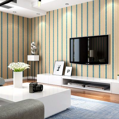Blue Pink Striped Wallpaper Mediterranean Style Bedroom Living Room Home Decoration Wallpaper Roll in Wallpapers from Home Improvement