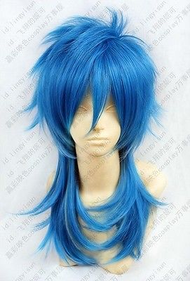 Temperate Dramatical Murder Dmmd Aoba Long Blue Mix Cosplay Wig Free Shipping In Many Styles
