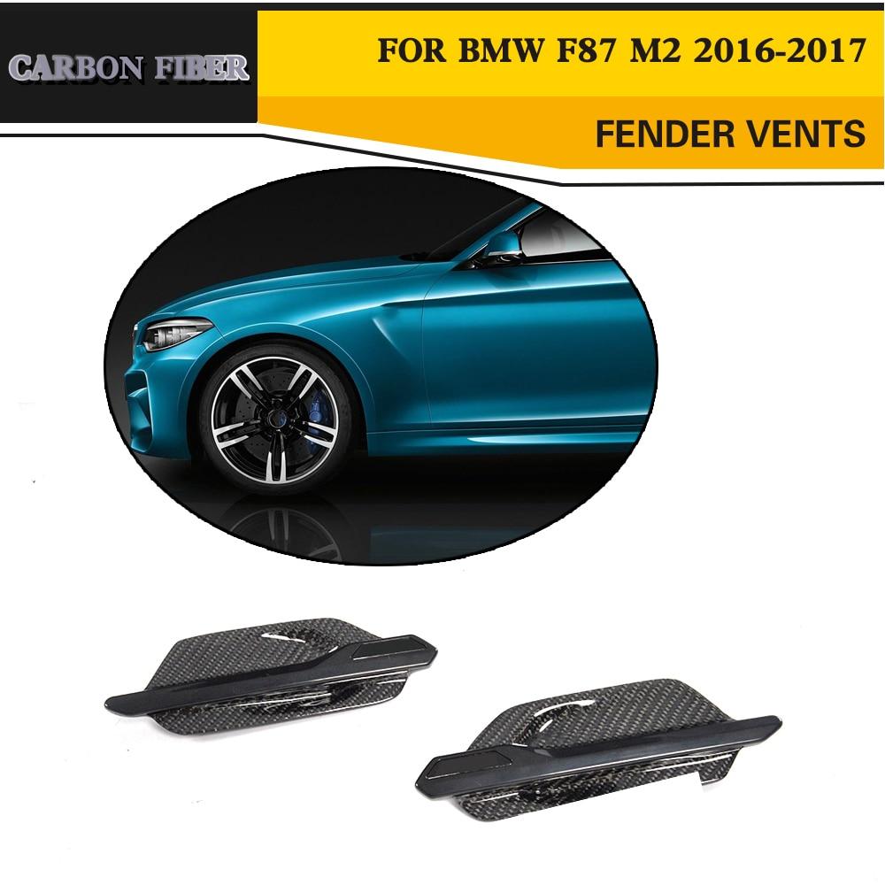 Углеродного волокна сбоку Fender забора воздуха вентиляционные отверстия для BMW 2 серии F87 M2 База купе 2 двери 2016 2017