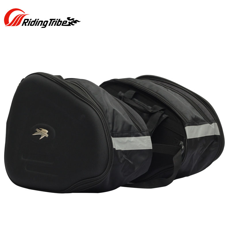 Riding Tribe Pro-biker Motorcycle Saddlebag Motorbike Helmet Luggage Oxford Bag WITH Bag Rain Cover pro biker g xz 026 multi function motorcycle fuel tank bag blue black