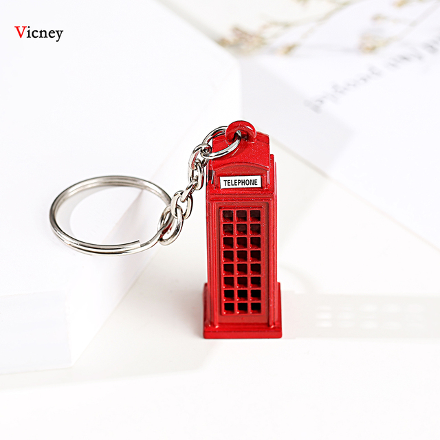 London Red&Blue Bus Key organizer Mail Box Key Holder Key Pendant Keychain Souvenir Gifts For Men Key chain Key Ring keyring 2