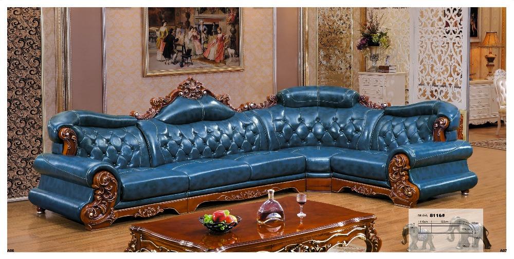 Iexcellent Designer Ecksofa, Europäischen Und Amerikanischen Stil Sofa,  Sessel Italienischen Leder Sitzgruppe Wohnzimmer Möbel