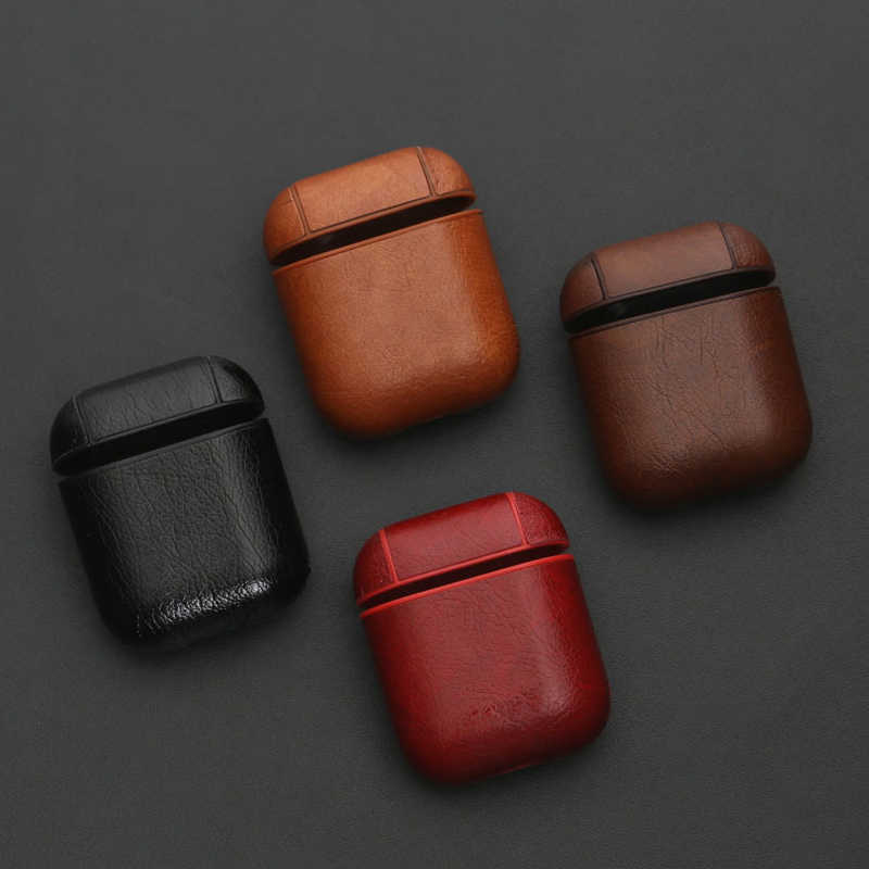 Earphone Case For Apple Airpods Accessories For iPhone AirPods Case Key Luxury Leather Storage Wireless Bluetooth Earphone Cover