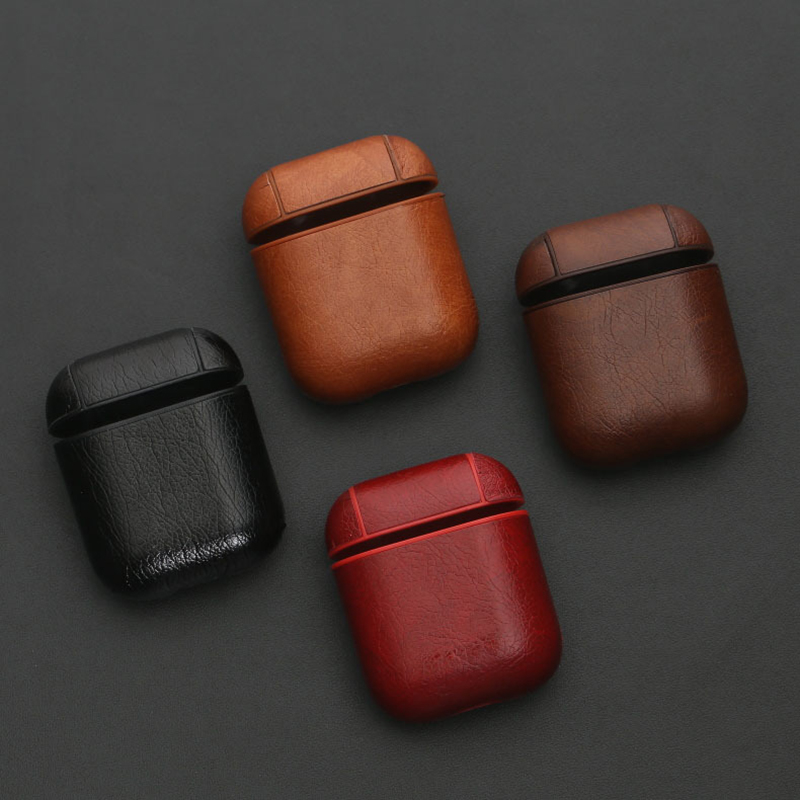 Earphone Case For Apple Airpods Accessories For iPhone AirPods Case Key Luxury Leather Storage Wireless Bluetooth Earphone Cover in Earphone Accessories from Consumer Electronics
