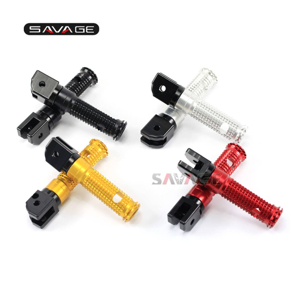 FOR DUCATI MONSTER 659/696/796/1100/S/EVO Motorcycle CNC Aluminum Footrest Rider / Passenger Foot Pegs Adapters ...