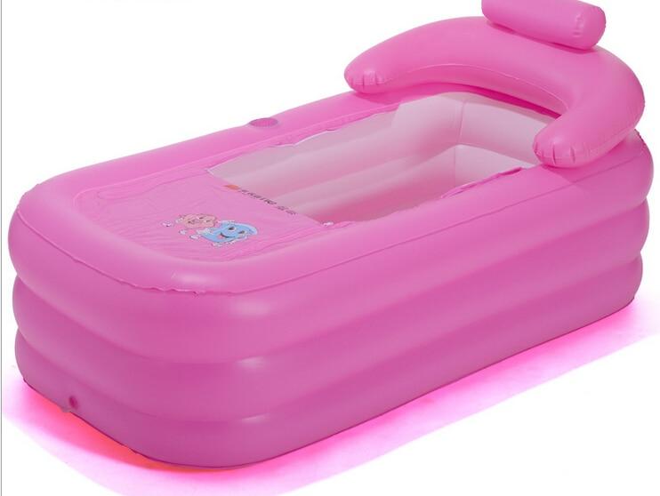 Vasca Da Bagno Pieghevole : Età spa portatile pieghevole vasca da bagno gonfiabile vasca da