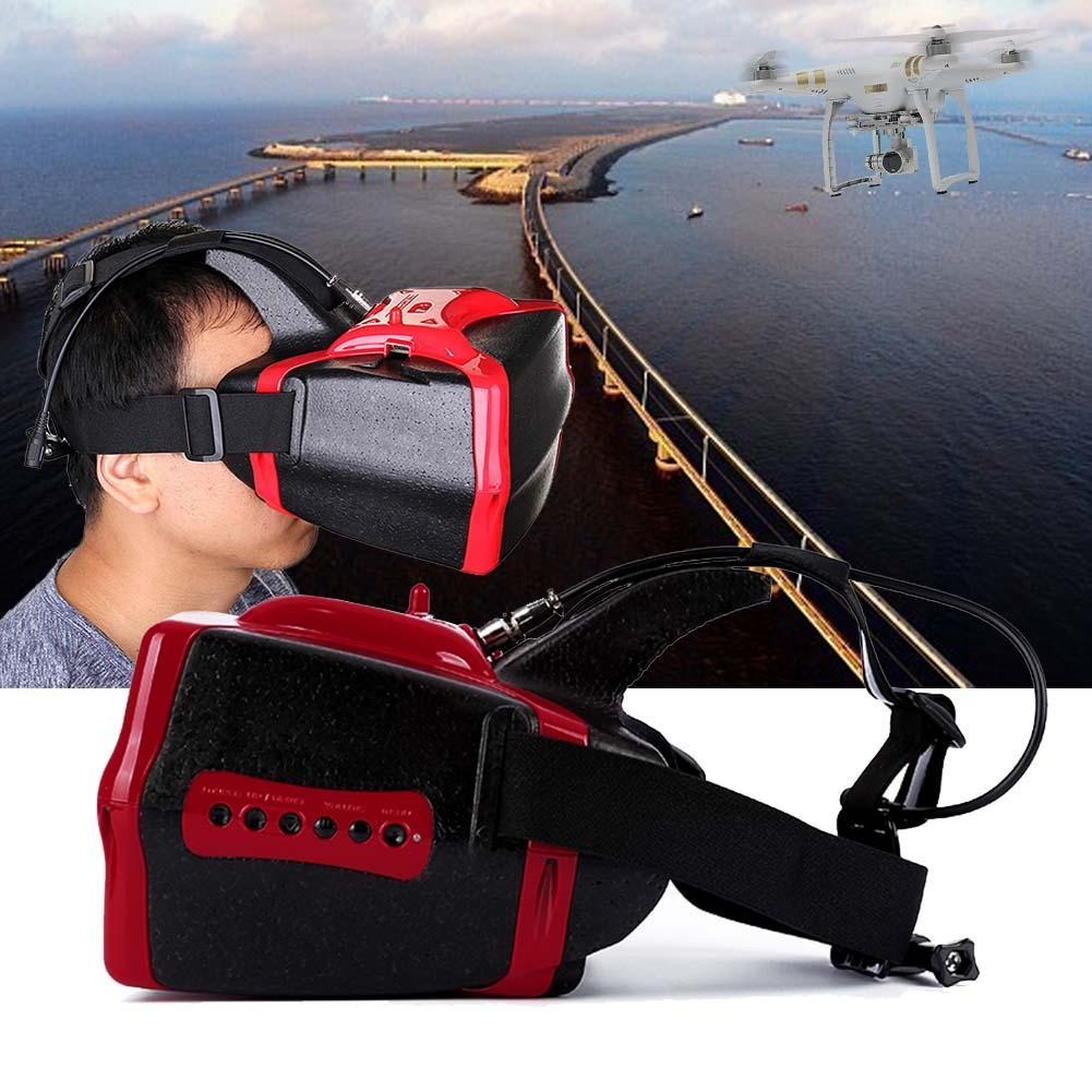 Red HD 1280×800 FPV Video Goggles 32 channels 5.8GHz Headset Receiver for DJI A676