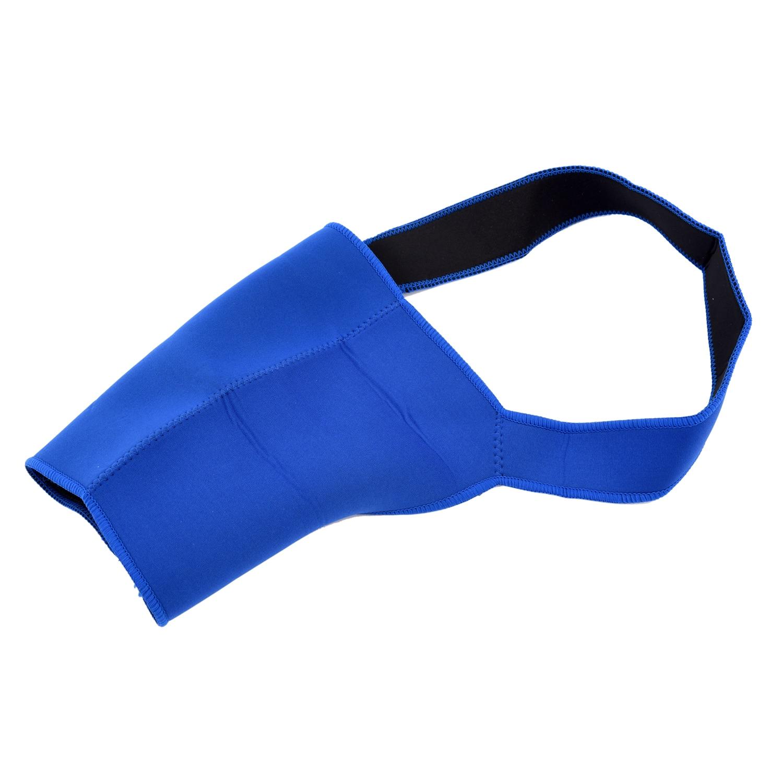 SAF- Men Sports Protect Blue Elastic Neoprene Single Shoulder Brace Support