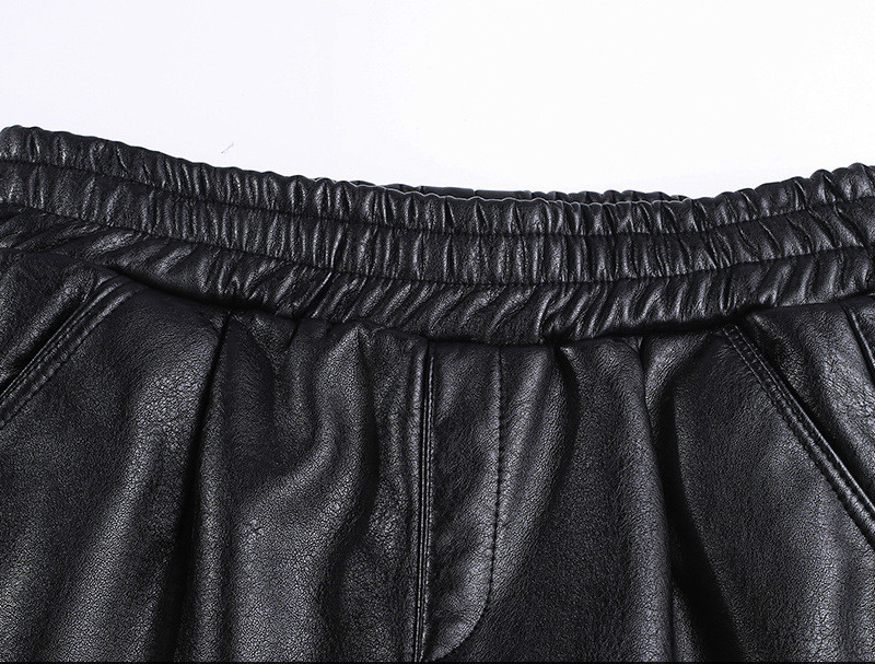 De Más Pu Harén Desgaste Cuero Pantalones Las Streetwear Pana 2019 Exterior Harajuku Invierno Black El Mujeres La Tamaño Chándal Nuevos FEZUZqvx