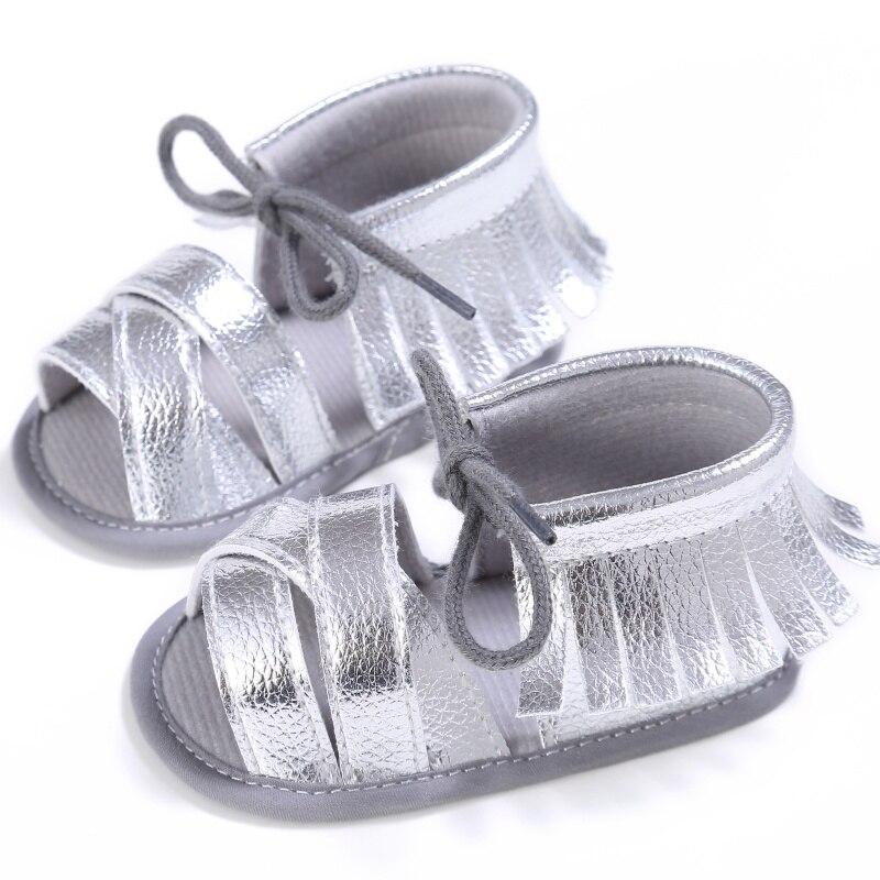 2017 Baru Tiba Sandal Balita Perempuan Lembut Sole PU Kulit Sepatu Bayi Putri Pinggiran Musim Panas Sepatu Bayi S2 C3
