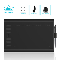 HUION H1060P Graphic Drawing Tablet Battery free Stylus Tilt Support Digital Tablet with 8192 Pen Pressure 12 Express Keys