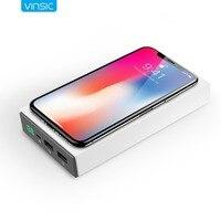Vinsic 12000 mAh Energienbank Qi Drahtlose Externes Ladegerät für iPhone X 8 8 Plus Samsung Galaxy S8 S7 S7 Rand S6 Anmerkung 5
