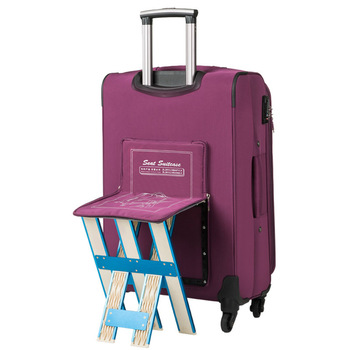 Rolling Luggage Bag with Chair