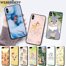 WEBBEDEPP lovely Bambi And Thumper Silicone soft Case for iPhone 5 SE 5S 6 6S Plus 7 8 11 Pro X XS Max XR