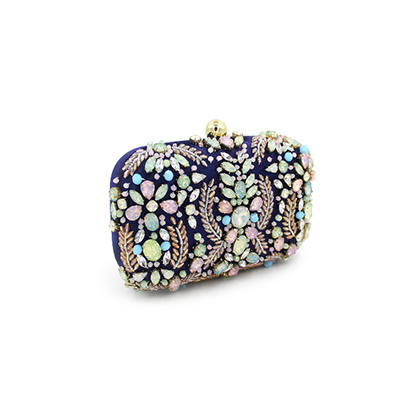 цена на Fashion Luxury Evening Bag Diamond Women Party Purse Lovely Ladies Prom blue Feast Clutch Bag Wedding Banquet Bag clutch wallets