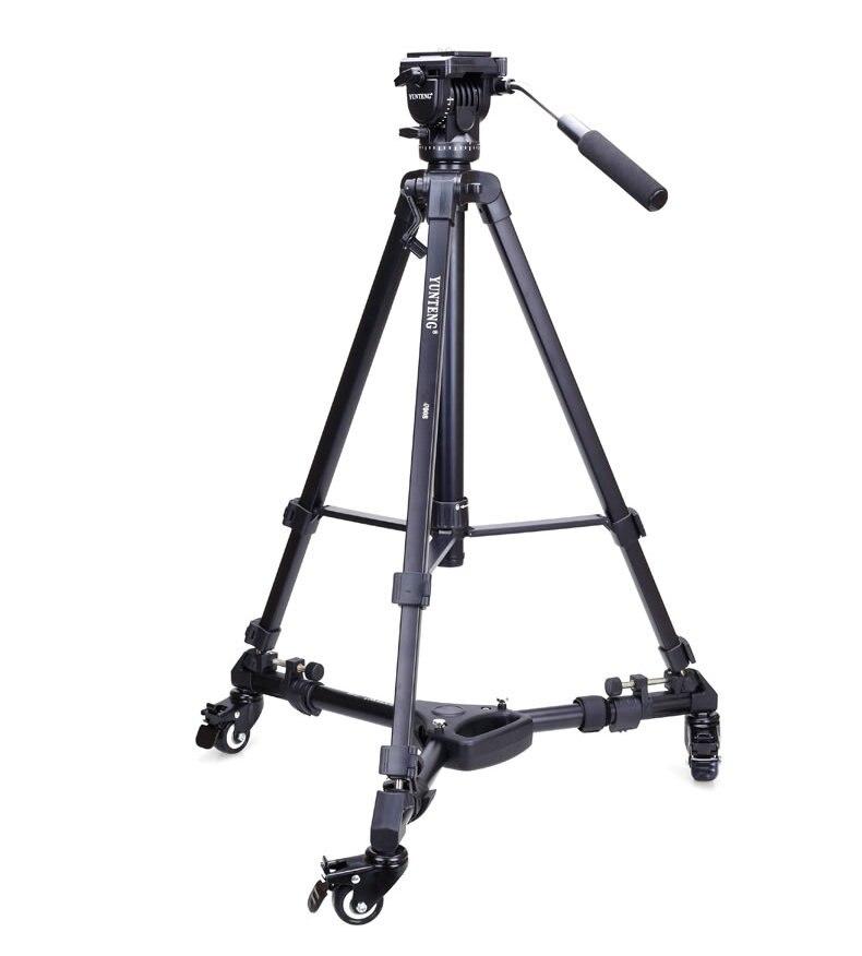 Professional  Pro 3 Wheels Pulley Universal Folding Camera Tripod Dolly Base Stand 900