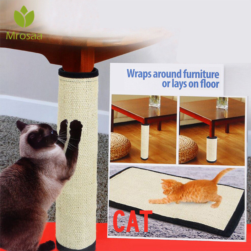 Natural Sisal Cat Scratching Post Mat Protecting Furniture Foot For Cats Chair Protector Pad Climbing Tree Cat Scratch Pad Board