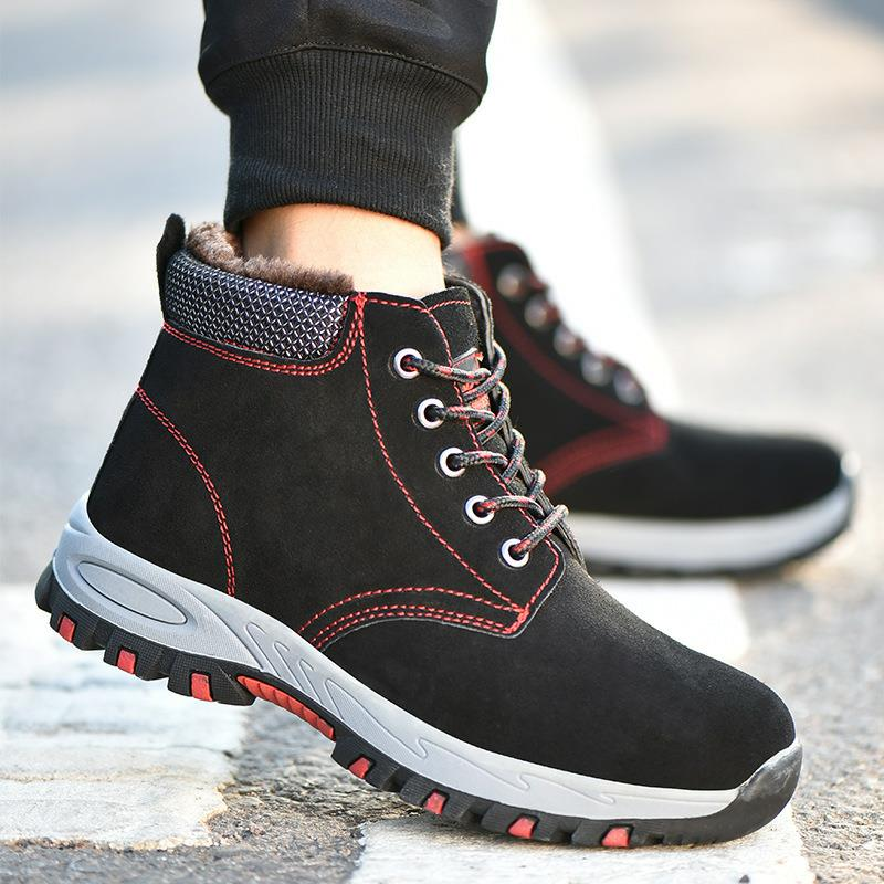 Safety Shoes Cap Steel Toe Safety Shoe Boots For Man Work Shoes Men Casual Waterproof Size