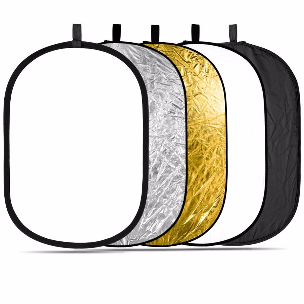 Free Shipping 100X150cm 5 in 1 Portable Collapsible Light Round Photography Reflector for Studio Multi Photo Disc accessories аксессуар dicom ditech st100150 100x150cm