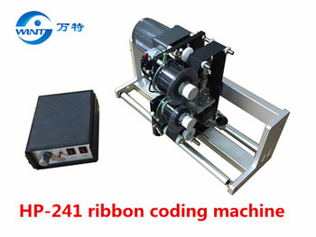HP-241 máquina de codificación térmica de cinta de sincronización automática, máquina codificadora, soporte de máquina 400mm