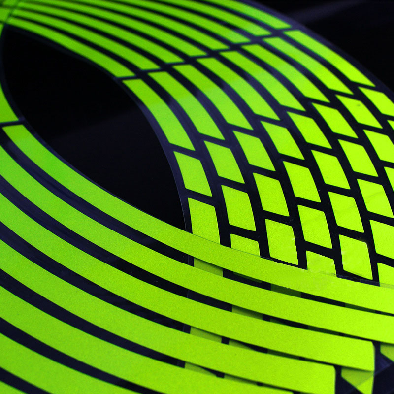 17 18 Inch Reflective Car Motorcycle Sticker Motorcycle Car Wheel Tire Sticker Reflective Rim Tape
