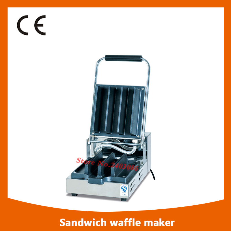 KW-111 stainless steel waffle machine Danish sandwich waffle maker for snack equipment fast food leisure fast food equipment stainless steel gas fryer 3l spanish churro maker machine