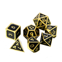 1set 7x Embossed Heavy Metal Polyhedral Dice Dungeons & Dragons RPG With Bag Poker Party Table Board Role Playing Dices