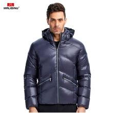 MALIDINU 2019 Men Down Jacket Winter Down Coat Brand Thick Warm Winter Jacket Men 70%White Duck Down Shiny Down Jacket Men Wear watership down