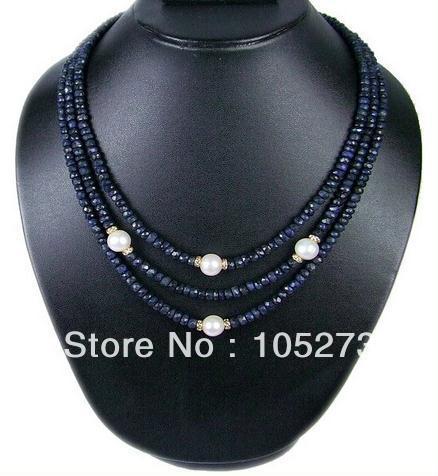 Magnifique bijou en pierre naturelle véritable collier de perles d'eau douce 3 rangées 3-6mm 18-20 ''vente en gros nouvelle livraison gratuite
