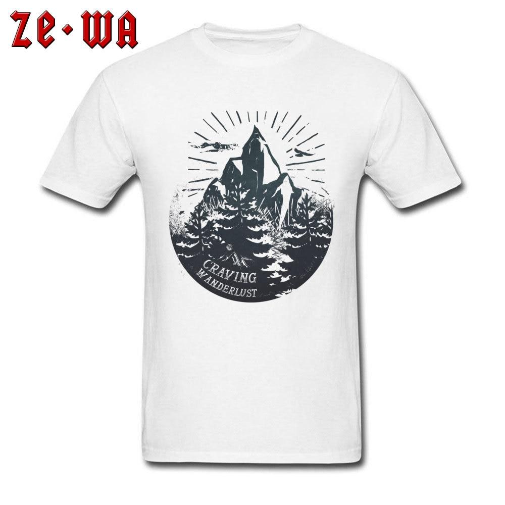 10285b5a Adventure TShirt Men Craving Wanderlust T Shirt Mountains T-Shirt Hipster  Travelling Clothes Nature Logo