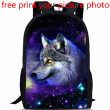 picture custom 3D photo print customized Europe and United States primary school bag mens shoulder campus creative backpack