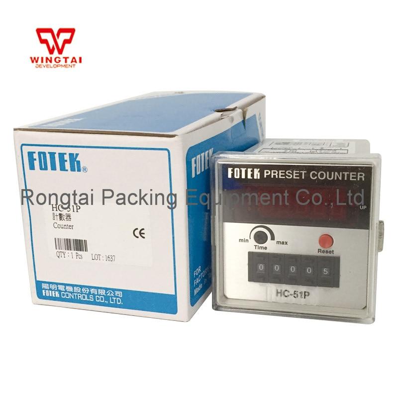 Made in Taiwan 5 digital Fotek HC-51P Counter Meter Setting Range 1~99999 5 digits taiwan fotek hc series digital counter hc 51p