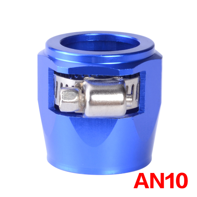 AN10クランプホースフィニッシャークランプ/クリップ10 apsアルミ合金燃料/オイル/ラジエーター/ゴム燃料油水パイプジュビリークリップクランプ