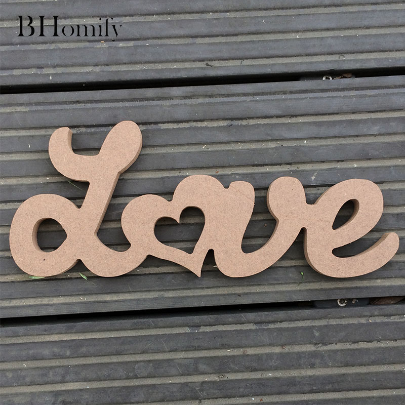 Bhomify любовные письма деревянный Романтический Винтаж отдельно стоящие Свадебный дом Украшение стола брак любовь свадьба знак реквизит для ...