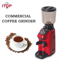ITOP Red/Black/Grey Commercial Coffee Grinder Coffee Bean Burr Milling Machine Kitchen Coffee Maker Processors 110V/220V цена 2017