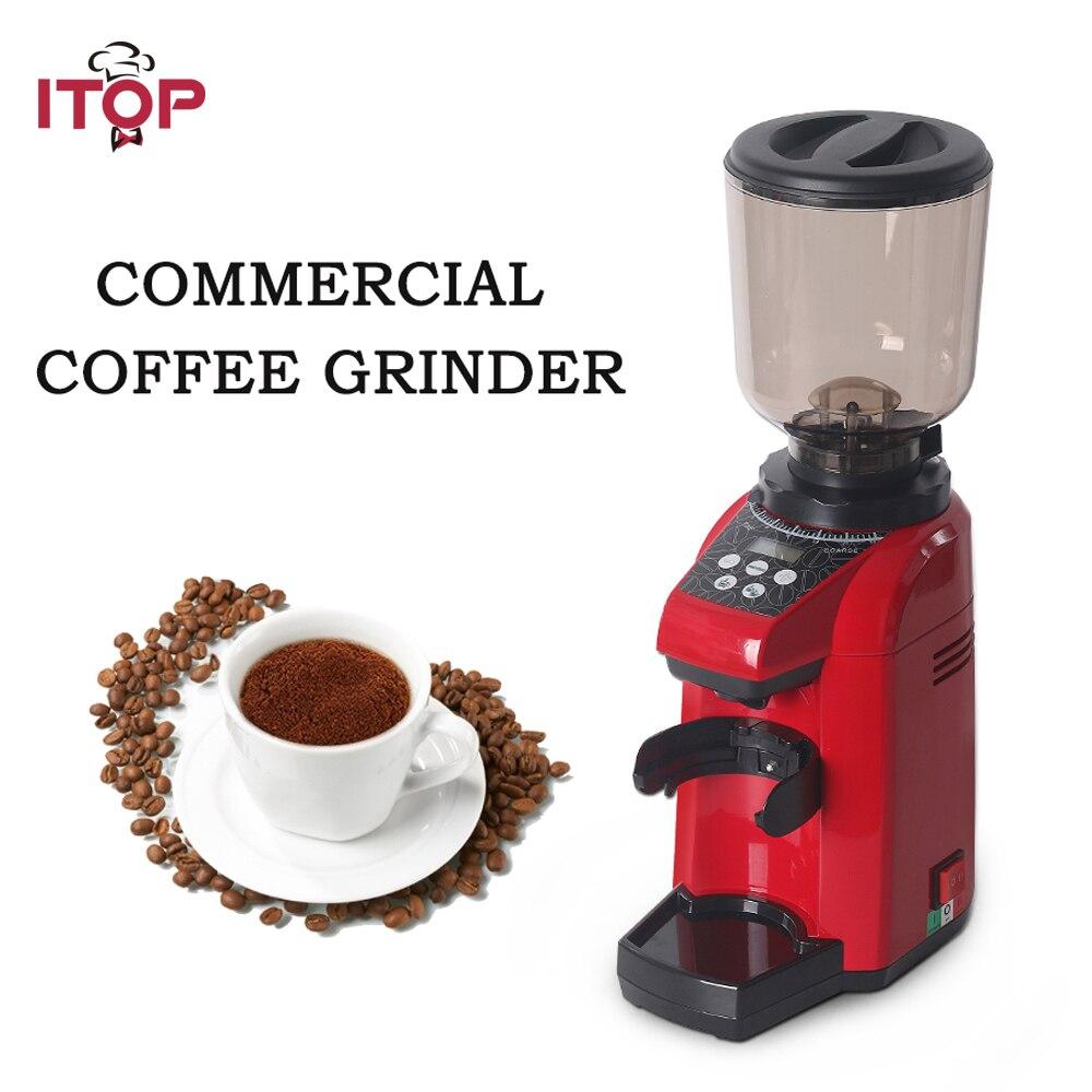 ITOP rouge/noir/gris Commercial moulin à café café grain fraise fraiseuse cuisine cafetière processeurs 110 V/220 V