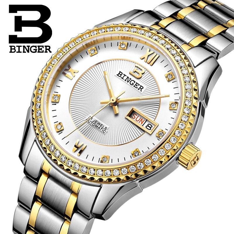 Zwitserland horloges heren luxe merk Horloges BINGER diamant - Herenhorloges