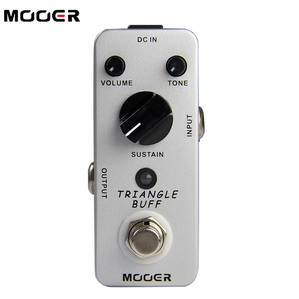Mooer Triangle Buff Fuzz Pedal /Full metal shell True bypass Guitar effect pedal mooer grey faze vintage fuzz guitar pedal fuzz distortion guitar effect pedal full metal shell true bypass free shipping