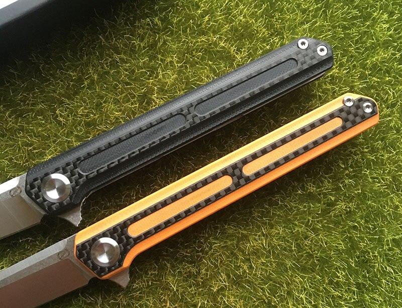 STEDEMON C06 440C Flipper faca dobrável lâmina