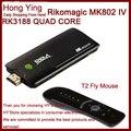 Original MK802 IV Rikomagic MK802IV Android 4.2.2 RK3188 Quad Core Mini PC TV BOX stick 1.8GHz 2GB RAM 8GB ROM + T2 fly mouse
