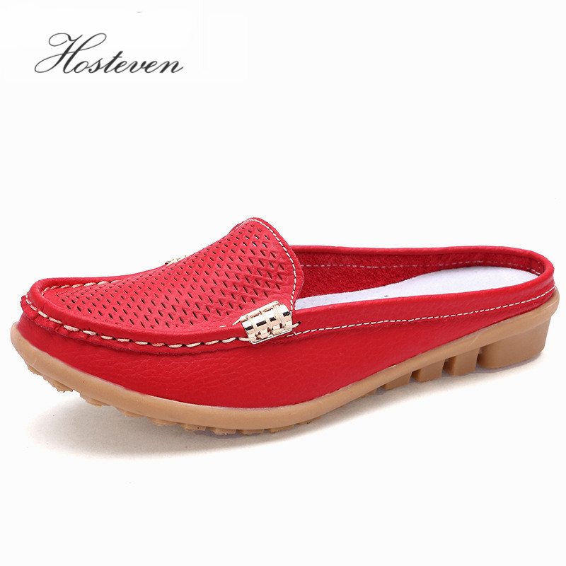Nya Damskor Real Leather Moccasins Mother Loafers Mjuka Leisure Flats Kvinnliga Ladies Driving Ballet Casual Footwear