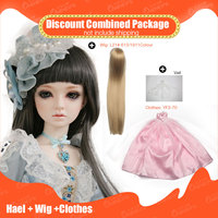OUENEIFS 1/3 bjd sd doll Hael supiadoll add Wig and beautiful Clothes Discount Combined Package Fashion girl doll