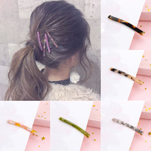 Fashion 1pc Women Girls Simple colorful Hair Clip Wedding Gifts Charming Band Accessories